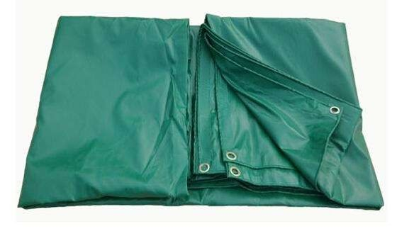 China FR B1 Test Fire Retardant Tarps Lowes , Green PVC Coated Tarpaulin For Nuclear Power Station supplier