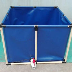 China PVC Coated Customized Tarpaulin Fish Tank ,  3200L Cold Resistance Fish Tank supplier