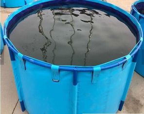 China Fish Farming Aquarium Water Storage Tank, Blue Cylinder Above Ground Fish Pond supplier