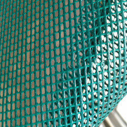 China Reinforce PVC Coated Polyester Mesh , 50N/5cm Peeling Strength Building Safety Net supplier