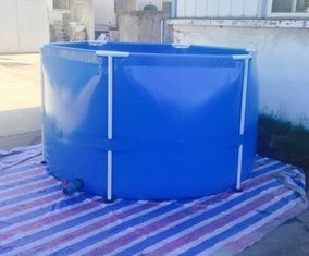 China 55 Gallon Removable Tarpaulin Fish Tank 1700N/5cm High Tensile Strength supplier