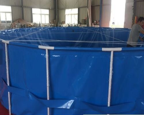 China 500 Cubic Fish Pond Plastic Tank With Folding Frame Exteriors Custom Colors supplier