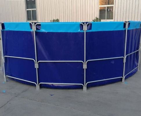 China Waterproof And Fireproof PVC Fish Pond With Laminated PVC Pool Liner supplier