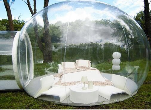 China Outdoor Single Tunnel Inflatable Bubble Tent ,  3.8M*2.6M Transparent Bubble Tent  supplier
