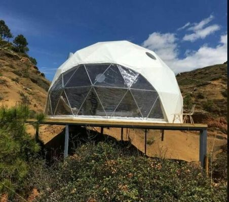 China Geodesic Dome House Steel Tent For Outdoor Event  Economical Half Sphere Dome Tent supplier