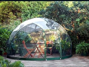 China Customized Waterproof Windproof Movable Geodesic Dome Tent With Steel Frame supplier