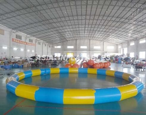 China Round Inflatable PVC Swimming Pool , 3.5M*3.5M PVC Inflatable Pool For Beaches supplier