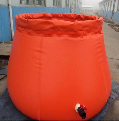 China Collapsible Onion Shape Plastic Water Storage Tank For Fire Rescue 3000L Capacity supplier