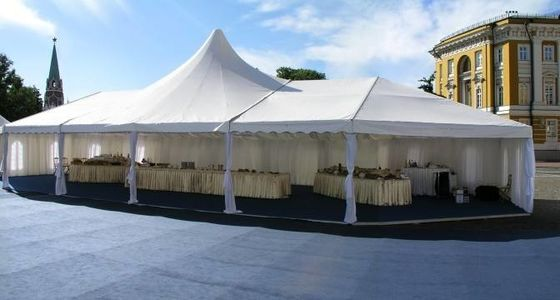 China Retractable Fire Retardant Tarpaulin , Self Cleaning Sun Tarp For Muslim Tent supplier