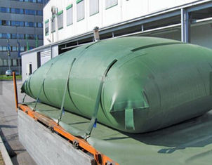 China Vehicle Collapsible Water Container , 3500 Liter Water Bladder Tank Dark Green supplier