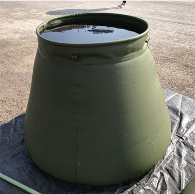 China Army Self-Standing PVC Foldable Rain Water Tank Round Top For Fire Fighting 2500L supplier