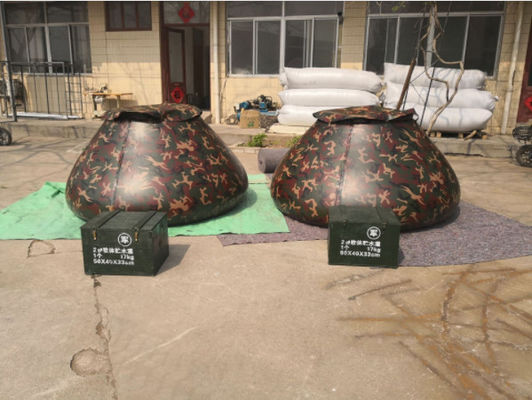 China Military Emergency Storage Tarpaulin Water Tank  Camo Color 5000L Volume supplier