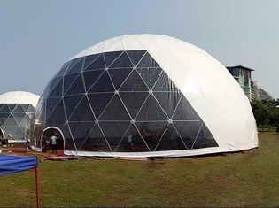 China 18M Waterproof Anti - UV Geodesic Dome Tent With Steel Pipes For Event Party supplier