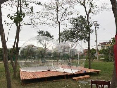 China Hotel Clear Inflatable Bubble Tent , Outdoor Inflatable Transparent Tent For Camping supplier