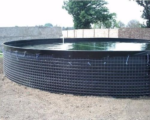 China 30000 L PVC Tarpaulin Fish Tank Strong Stainless Steel Wire Fish Pond For Fish Farming supplier