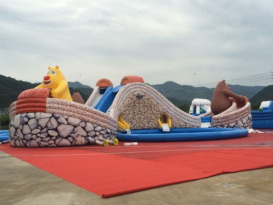 China Swimming Pool Outdoor Inflatable Amusement Park Beach Game 5 Years Warranty supplier