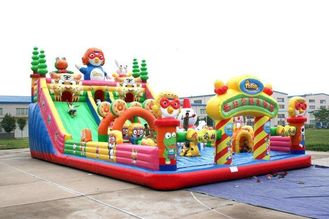 China KIDS Bouncer Bodyguard Air Bounce Backyard Inflatable Castle With Slides & Ladder supplier