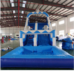 China Kids Sport Game Water Slide Inflatable Amusement Park Outdoor Safe And Stable PVC supplier