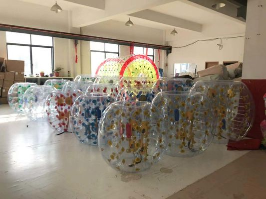 China 1.50M Inflatable Amusement Park Roll Inside Soccer Bumper Knocker Ball Entertainment Game supplier