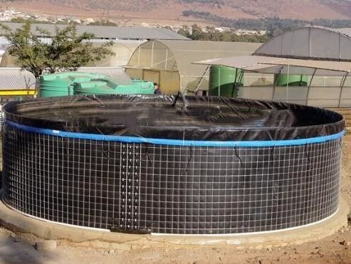 China 20000 L PVC Fish Farming Tanks, Flexible Tarpaulin Wire Mesh Tank For Agricultural supplier