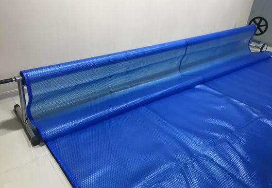 China 9M * 15M Swimming Pool Solar Cover Anti - UV Waterproof Heat Retention supplier
