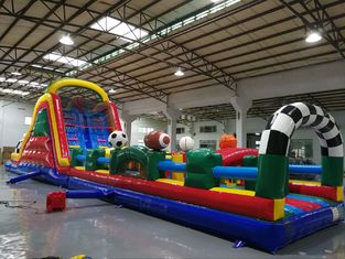 China Huge Interactive Challenge Blow Up Obstacle Course Bounce House Aqua Park supplier