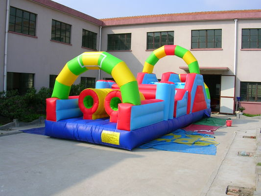China 0.55mm PVC Tarpaulin Inflatable Amusement Park Bounce House Combo Commercial Grade supplier