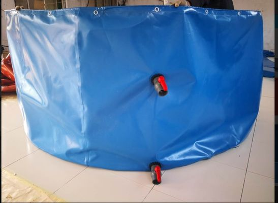 Round Shape Collapsible PVC Coated Fish Pond Tank Material Tarpaulin Cover