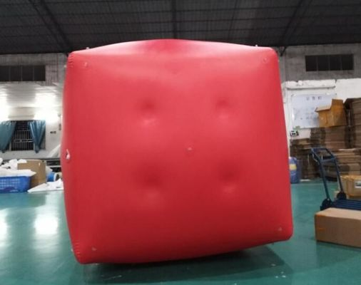 China Military Inflatable Swim Buoys Gunnery Practice Square Shaped Red Color supplier