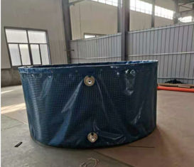 Non - Toxic Steel Mesh Pvc Collapsible Water Tank Portable Fish Farming