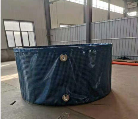 China Non - Toxic Steel Mesh Pvc Collapsible Water Tank Portable Fish Farming supplier