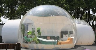 China Dome House Igloo Transparent Inflatable Tent with 4 Parts Bathroom, living room, bedroom and passageway supplier