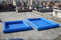 China 8M*6M Inflatable Swimming Pool With Fireproof PVC Tarpaulin For Family factory