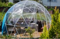 5M Luxury Geodesic Dome Tent With Steel Pipes And Transparent Cover