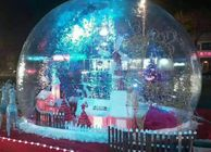 PVC Clear Giant Inflatable Show Ball , Inflatable Snow Globe For Christmas Promotion
