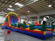 Huge Interactive Challenge Blow Up Obstacle Course Bounce House Aqua Park