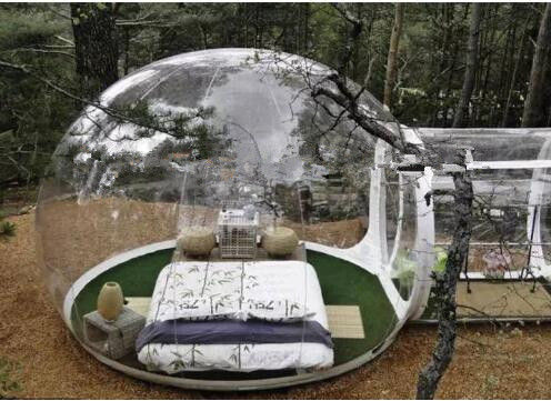 ad595ddb0dc Clear Inflatable Bubble Tent Inflatable Double Stitching Clear Camping Tent