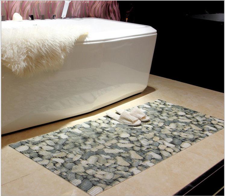 3u0027 X 5u0027 PVC Anti Slip Mat Bathroom , Eco Friendly Plastic Mats With Pattern  Printing