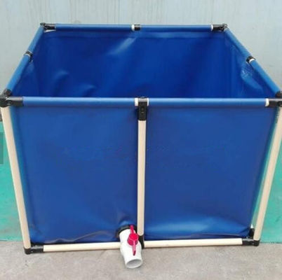 China PVC Coated Customized Tarpaulin Fish Tank ,  3200L Cold Resistance Fish Tank factory