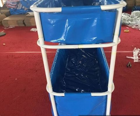 China Portable PVC Collapsible Fish Pond Double Tier 5000L - 20ºF ~ 158ºF Temperature Resistance factory