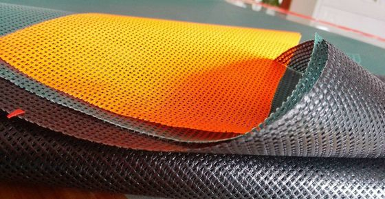 China Flexible PVC Mesh Screen , Grid Garden Mesh Fencing With OEM Service factory