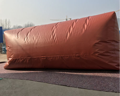 China Flexible PVC Red  Methane Storage Tank With TPU Tarpaulin For Cooking Fuel factory