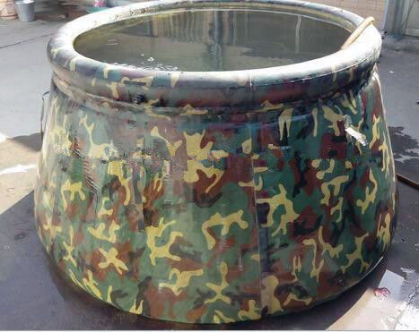 Army Drought Resistant Water Storage Bladder Tanks 30℃ ~ 70℃ Temperature Resistance