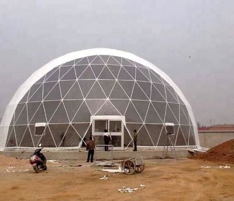 China UV Resistance PVC Geodesic Dome Tent Dia 16M For Outdoor Hotel factory