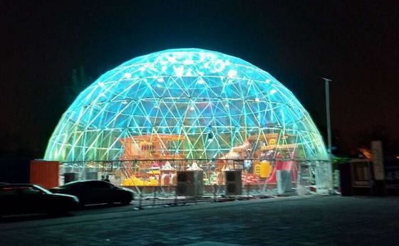 China 20M  PVC Geodesic Dome Strong Structure Steel Steel Tent Transparent For Outdoor Event factory