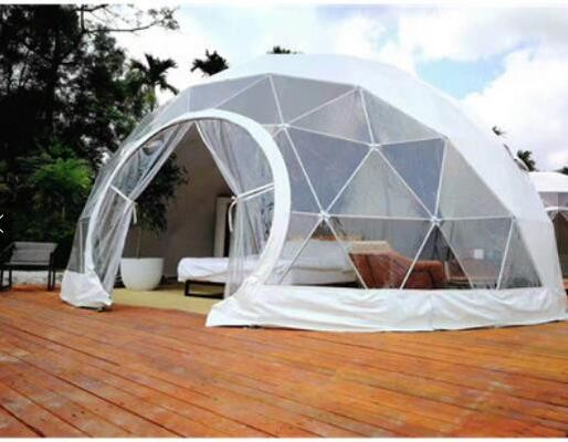China 4M Garden Igloo Geodesic Dome Tent , Outdoor Geodesic Event Dome House Tent factory