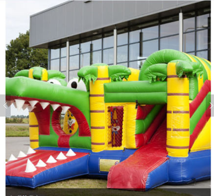 China Shark Inflatable Amusement Park Bouncer Jumping Castle For Kids Party factory