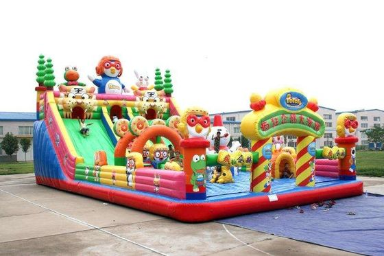 KIDS Bouncer Bodyguard Air Bounce Backyard Inflatable Castle With Slides & Ladder