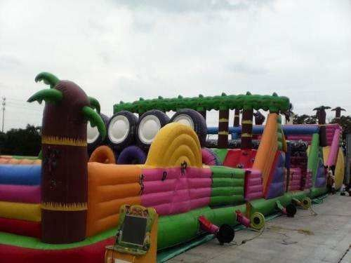 China Multifucaional Giant Inflatable Amusement Park Outdoor PVC Jumping Bouncy Castle factory