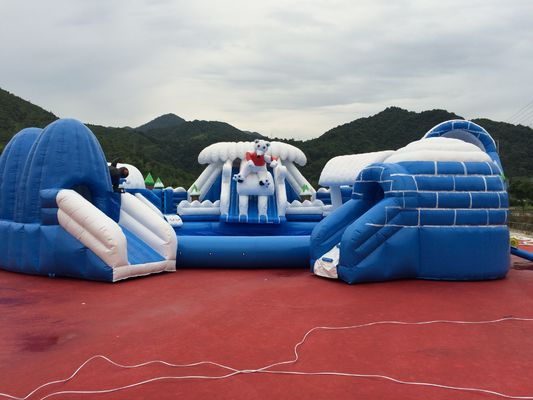 China Customized Giant Cartoon Water Slide Bounce House Amusement Park Outdoor Game factory